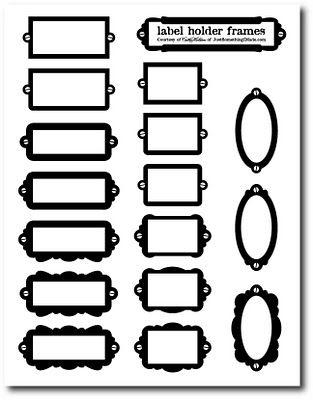 """des porte-étiquette pour toutes vos créations... """"petit plus"""" : imprimez-les sur transparent et/ou évidez-en le centre pour un aspect encore plus réaliste !..."""