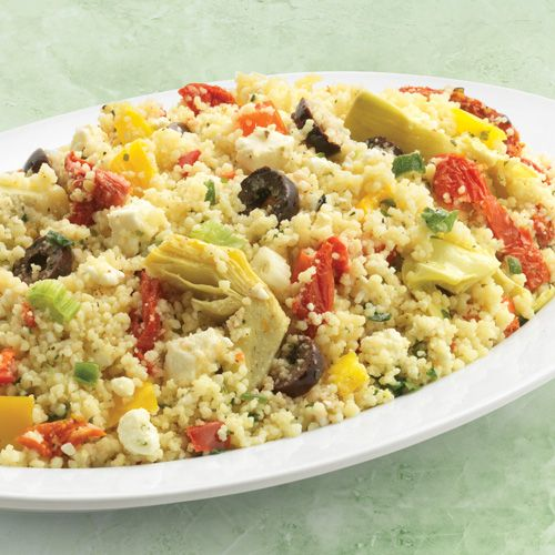 Wegmans, Greek Santorini Couscous Salad. LOVE this from the salad bar. So happy to find the recipe!