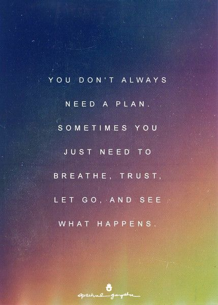 let go and trust