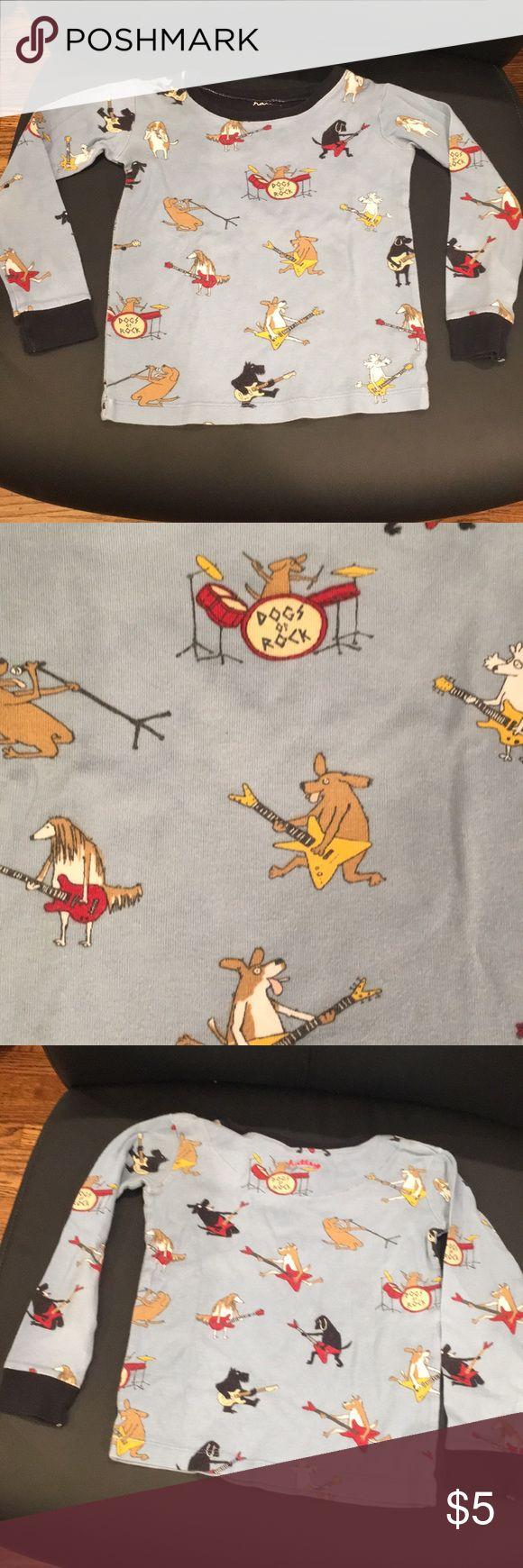 Hatley pj top Long sleeve Hatley pj top with rockin dogs. Great condition. Hatley Pajamas Pajama Tops