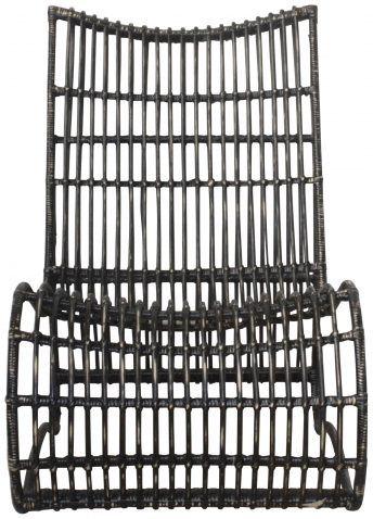 Block & Chisel distressed black rattan lounger 3,495