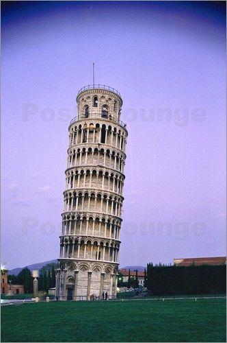 Der schiefe Turm von Pisa Bilder: Poster von Luis Marden bei Posterlounge.de