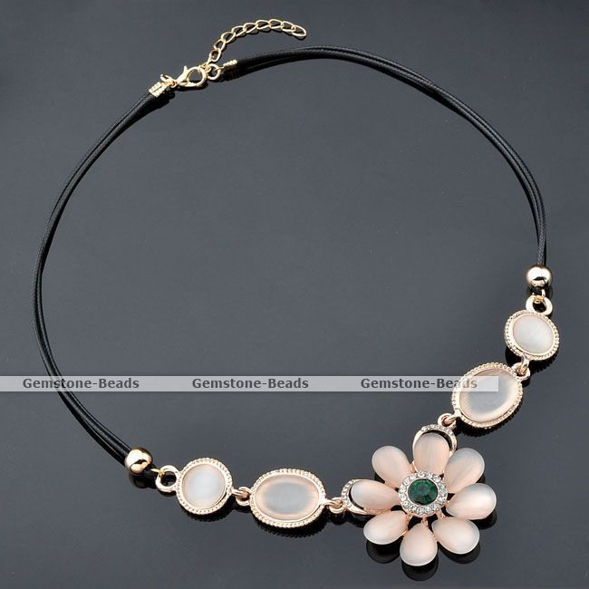 Gold Plated Flower Oval Round Cat's Eye Gem Bead Bib Choker Cord Choker Necklace #Choker  http://www.ebay.com/itm/Gold-Plated-Flower-Oval-Round-Cats-Eye-Gem-Bead-Bib-Choker-Cord-Choker-Necklace-/381023169072?pt=LH_DefaultDomain_0&hash=item58b6c02a30