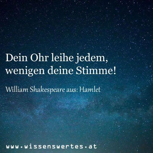 Zitat aus Hamlet | Hamlet zitate, Zitate, Zitate zitate