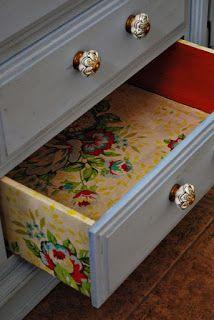 forrar gavetas com papel contact ou tecido