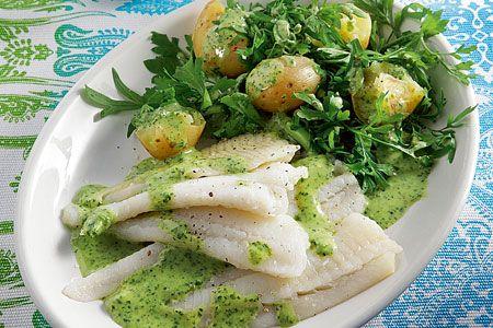 Γλώσσα στον ατµό µε αρωµατικά και σάλτσα µουστάρδας - Γρήγορες Συνταγές   γαστρονόμος online
