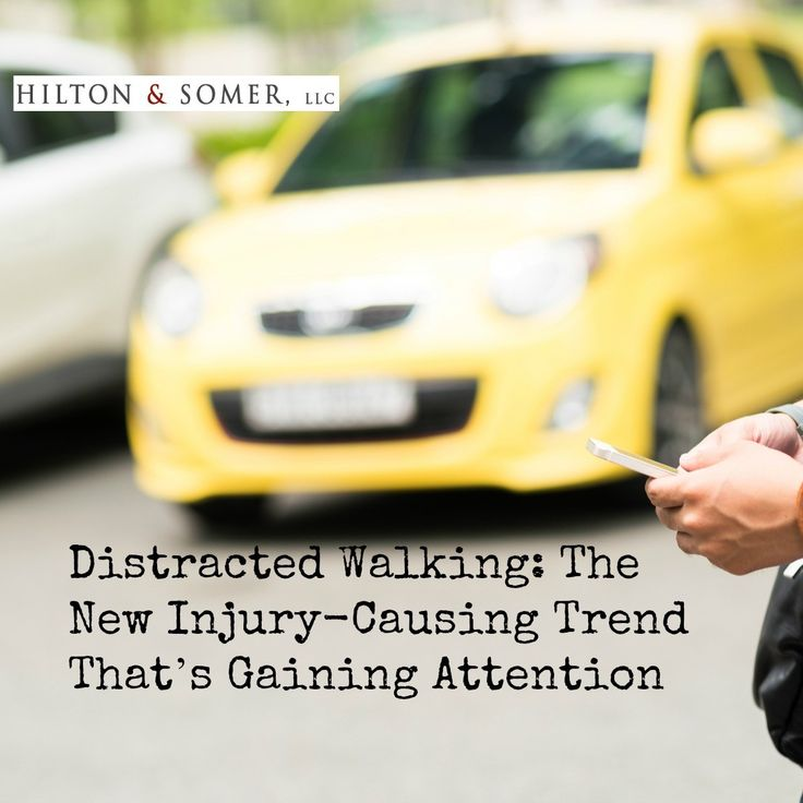 The issue of distracted walking has become such a large issue that there has been an annual report created by the National Safety Council that includes injuries related to this issue.