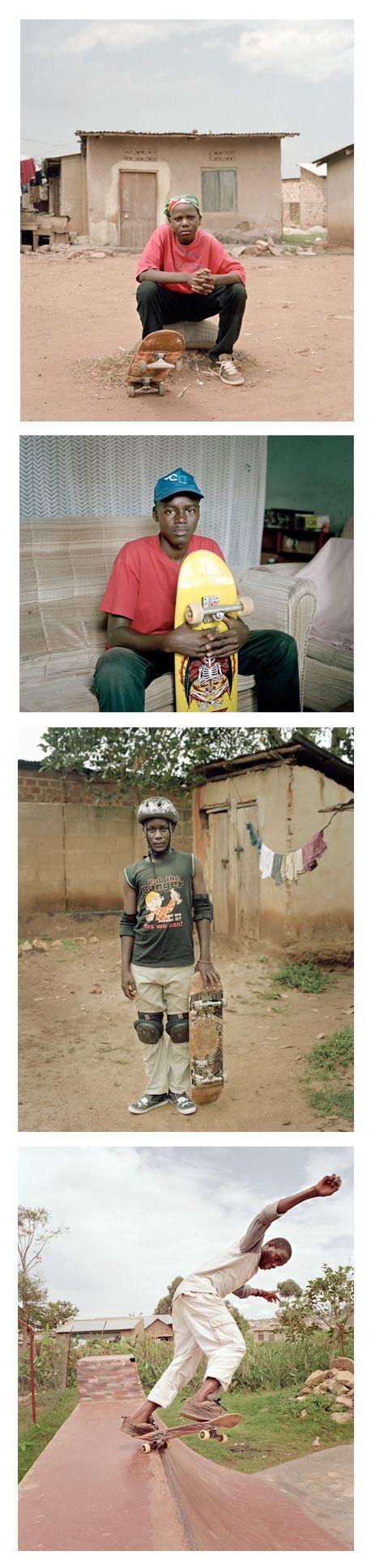 Uganda Skaters by Yann Gross