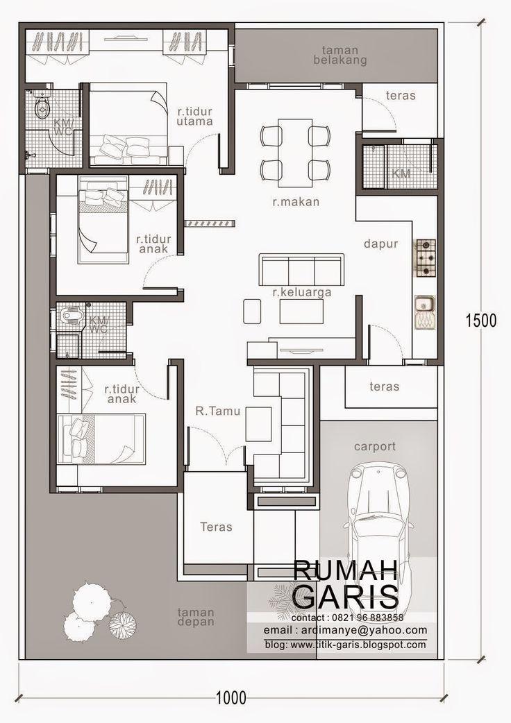 tampak rumah denah rumah Desain Rumah Makassar |Rumah Garis sebagai arsitek di Makassar merancang rumah tipe 90 m2 dengan desain...
