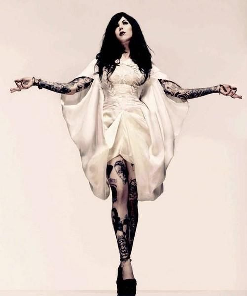 Kat Von D- Her makeup is amazing, her tattoos are beautiful, her style is great. Shes a no-nonsense, business minded, bitch