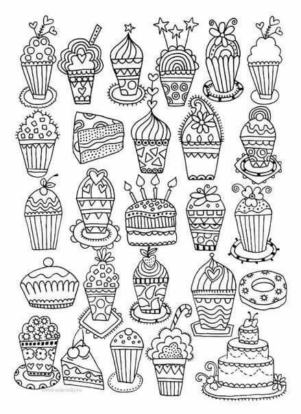 whimsical cupcake coloring pages - photo#36