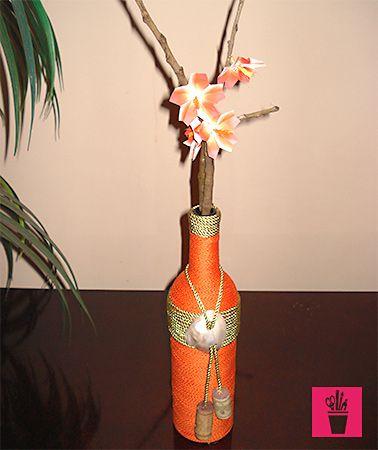 Reciclagem de garrafa com fios