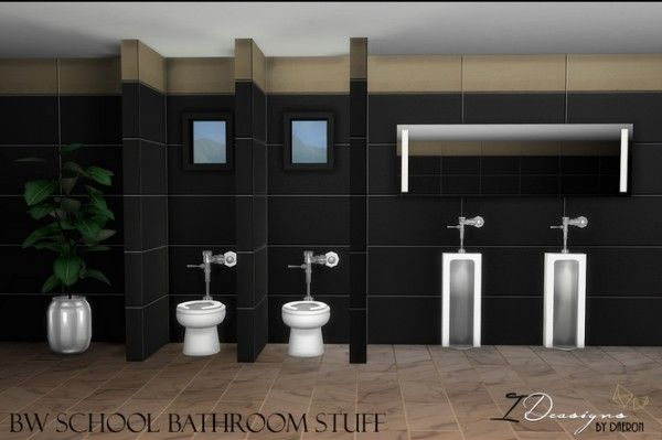 Sims 4 Designs: School Toilet • Sims 4 Downloads | sims cc