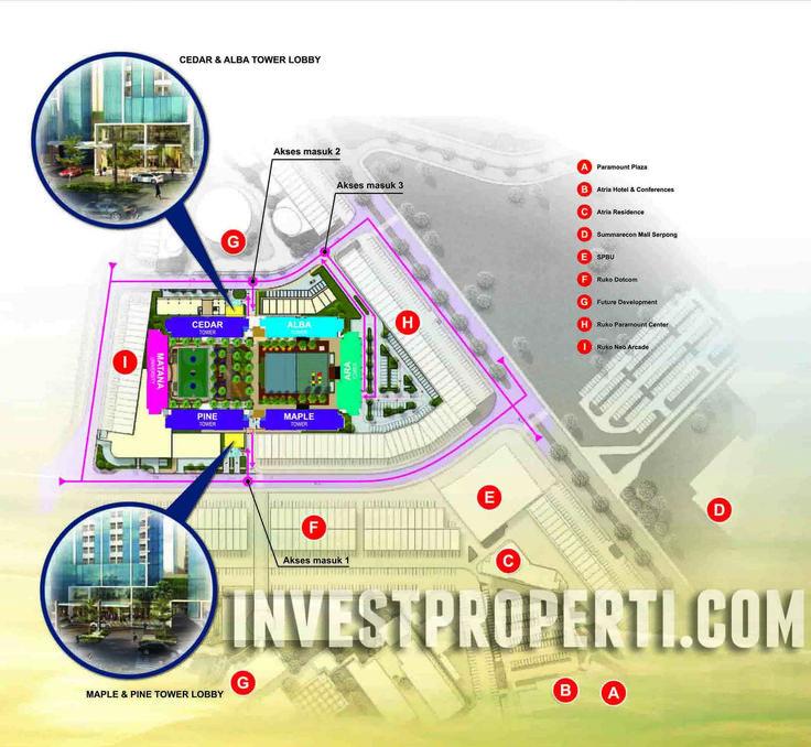 Ara Complex Apartment Paramount Map Location