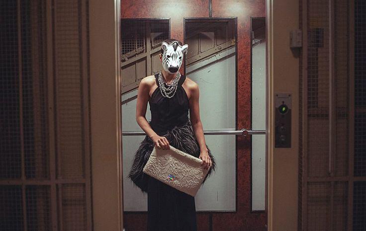 fux fur, elevator, bigenvelopebag, dress http://instagram.com/dvabutik