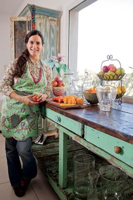 lovely vintage kitchen by Juliana Lopez May, argentine chef
