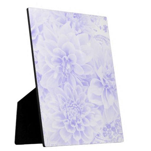 Dahlias In Blue Display Plaque
