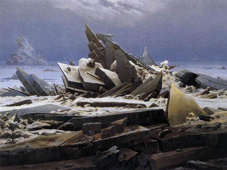 Das Eismeer, öl auf leinwand von Caspar David Friedrich (1774-1840, Germany)