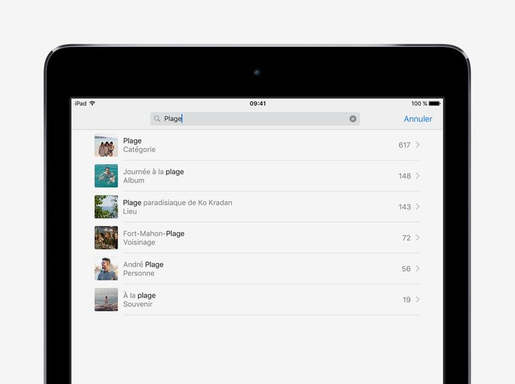 Retrouver rapidement une photo - Conseils et astuces pour iOS10 sur iPad - Assistance Apple