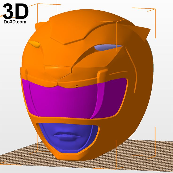 3D Printable Model: Yellow Ranger Classic Helmet from Mighty Morphin Power Rangers MMPR | Print File Format: STL – Do3D.com