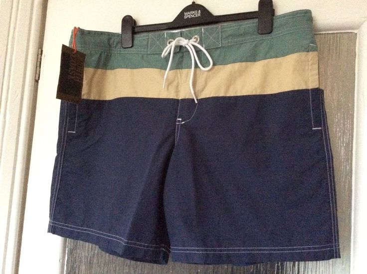 """M&S NORTH COAST Swim shorts, Swimwear XL(39-41"""") BNWT RRP£22.50 Blue Mix"""
