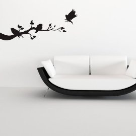 Vinyl Wall Art Birds on Branch