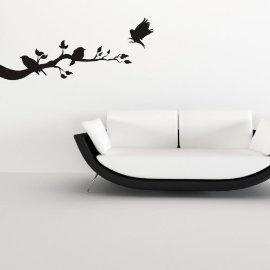 Vinyl Wall Art Birds on Branch