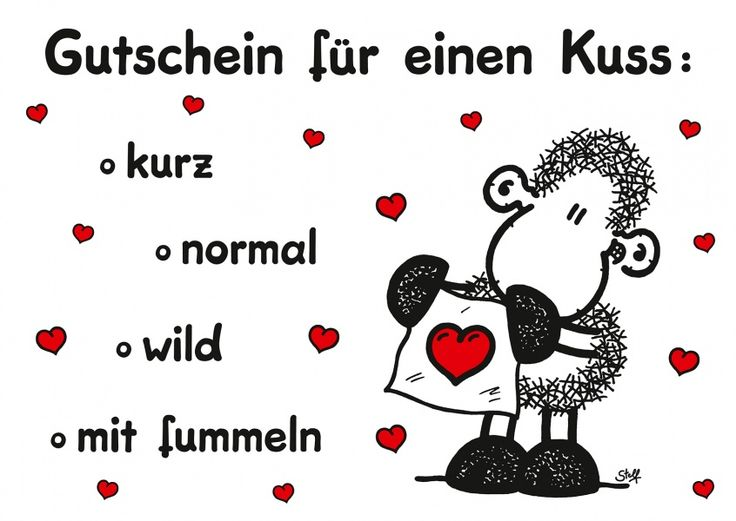 Gutschein für einen Kuss | sheepworld | Echte Postkarten online versenden…