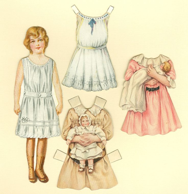 Antique Paper Doll: Sunshine Biscuit Company - Clothes & Baby Dolls. $10.00, via Etsy.