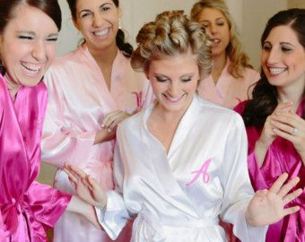 Bridesmaid Robes Monogrammed Bridesmaids Robes by shopmemento
