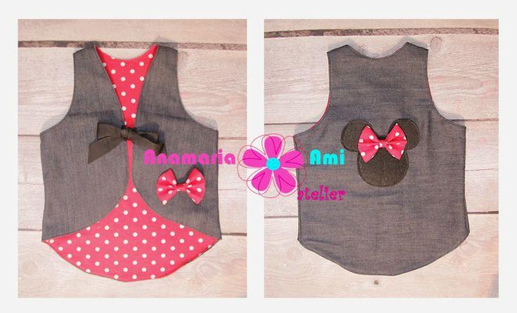 Vestuta jeans Minnie Mouse by Anamaria Ami vest