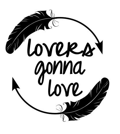 Lovers Gonna Love Feather Circle Svg File By Thesvgcorner