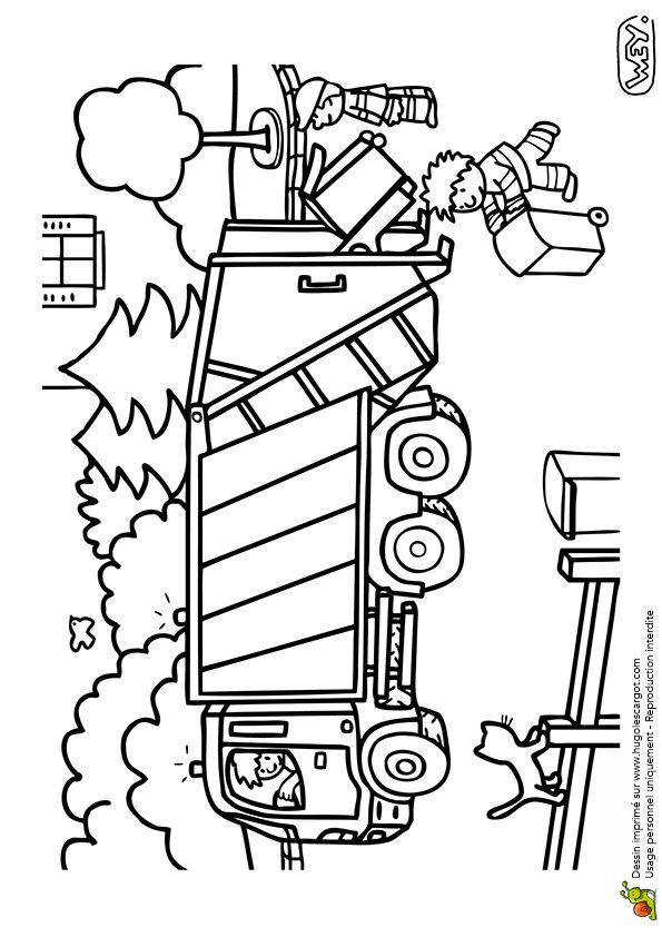 les 86 meilleures images du tableau coloriages de camions sur pinterest camions chantier et. Black Bedroom Furniture Sets. Home Design Ideas