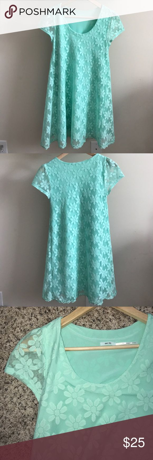 Kimichi Blue Mint Green Lace Dress UrbanOutfitters Fun Mint Green A- Line Lace Dress. Size Medium. Urban Outfitters Dresses