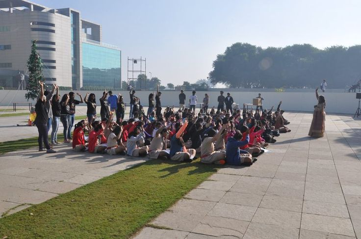 Students assemble for the DSK Design Olympiad Round 2 — at DSK International Campus.  dskic.in