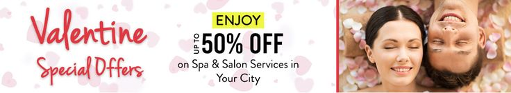 Enjoy #Nykaa Valentine Day Special Offer - Upto 50% Off on Spa & Salon Services