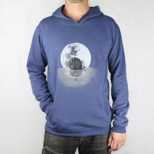 Monsterthreads Hoodie - Whale + Moon by A Fox