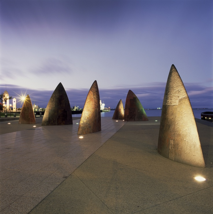 shark teeth sculpture, Eastern Beach Geelong