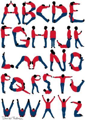 DanTadman: Personal Bodies Alphabet