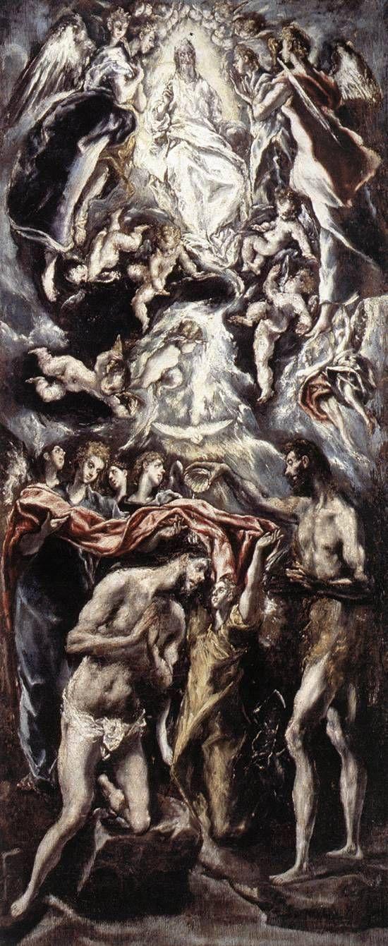 El Greco — Baptism of Christ, 1597, El GrecoSize: 144x350 cm...