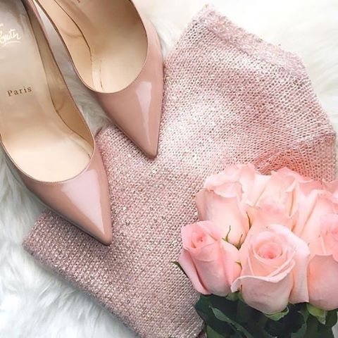 All blush everything. // Follow @ShopStyle on Instagram to shop this look