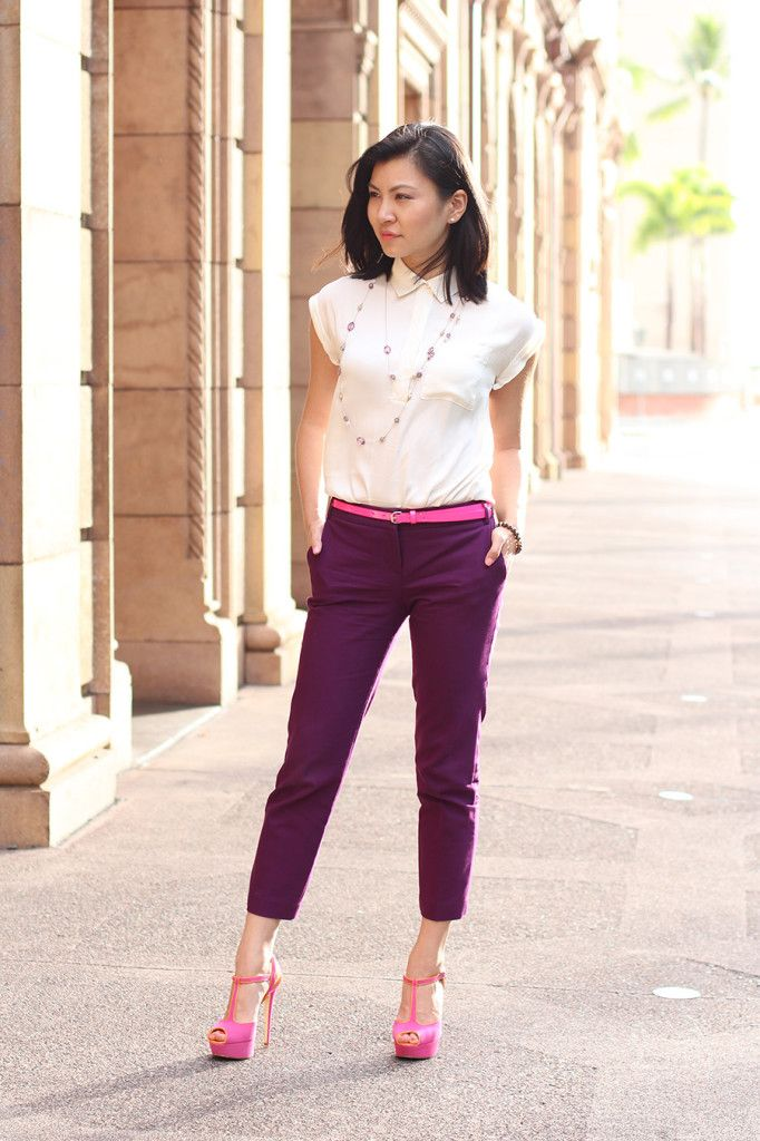 Pink Shoes And Purple Pants Pink Shoes Pinterest