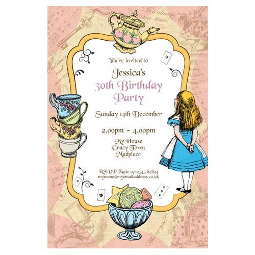 131 best Mad Hatters Tea Party Ideas images – Mad Hatters Tea Party Invitation Template