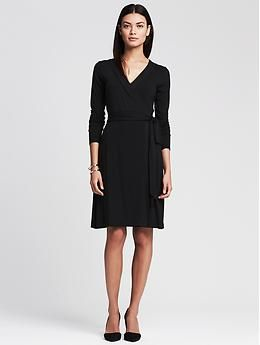 Gemma Wrap Dress - Dresses. Wrap dresses are my favorite go to, with a cardigan & flats!