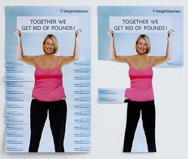 Clever Tear-Off Ads - WeightWatchers