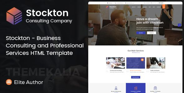 Stockton Business Consulting And Professional Services Html Template By Themekalia We Know That Every Business Is Different Thata S Why W Design Html