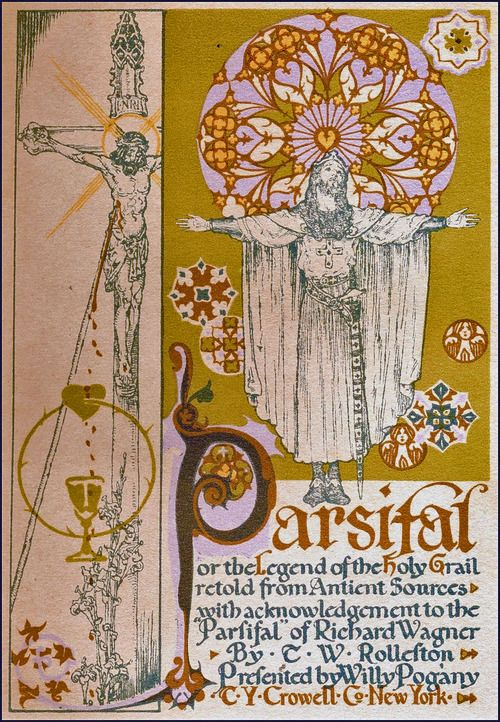 Will Pogany. Illustration for Parsifal, or The Legend of the Holy Grail retold from Ancient Sources, 1912
