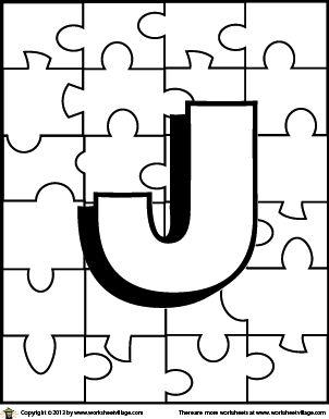 Color the Letter J