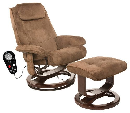 Comfort Products Inc. - Relaxzen Microfiber Massage Recliner - Chocolate Brown