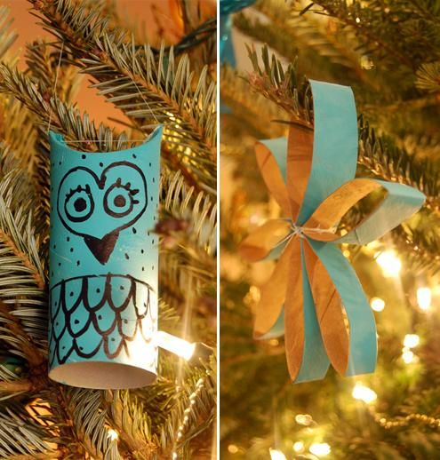 DIY Christmas Paper Decorations : DIY Toilet Paper Roll